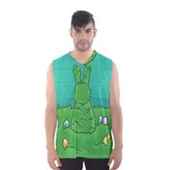 Rabbit Easter Green Blue Egg Men s Basketball Tank Top