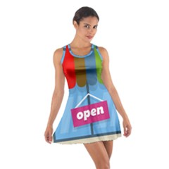Store Open Color Rainbow Glass Orange Red Blue Brown Green Pink Cotton Racerback Dress