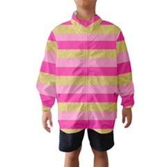 Pink Line Gold Red Horizontal Wind Breaker (Kids)
