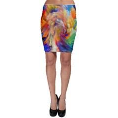 Rainbow Color Splash Bodycon Skirt