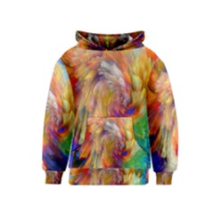 Rainbow Color Splash Kids  Pullover Hoodie