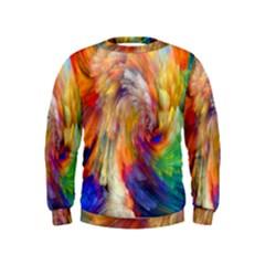 Rainbow Color Splash Kids  Sweatshirt