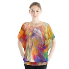 Rainbow Color Splash Blouse