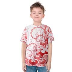 Love Heart Butterfly Pink Leaf Flower Kids  Cotton Tee