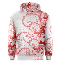Love Heart Butterfly Pink Leaf Flower Men s Pullover Hoodie
