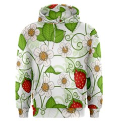 Strawberry Fruit Leaf Flower Floral Star Green Red White Men s Pullover Hoodie