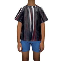 Abstraction Kids  Short Sleeve Swimwear