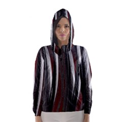 Abstraction Hooded Wind Breaker (Women)