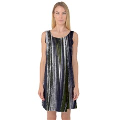 Abstraction Sleeveless Satin Nightdress