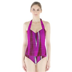 Abstraction Halter Swimsuit