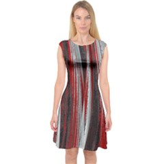 Abstraction Capsleeve Midi Dress