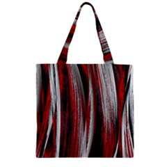 Abstraction Zipper Grocery Tote Bag