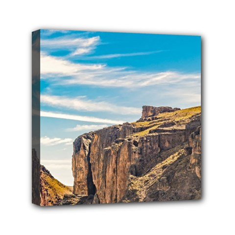 Rocky Mountains Patagonia Landscape   Santa Cruz   Argentina Mini Canvas 6  x 6