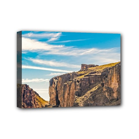 Rocky Mountains Patagonia Landscape   Santa Cruz   Argentina Mini Canvas 7  x 5