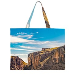 Rocky Mountains Patagonia Landscape   Santa Cruz   Argentina Zipper Large Tote Bag