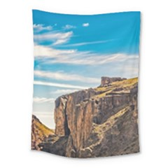 Rocky Mountains Patagonia Landscape   Santa Cruz   Argentina Medium Tapestry