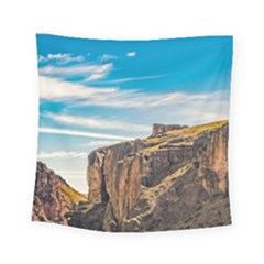 Rocky Mountains Patagonia Landscape   Santa Cruz   Argentina Square Tapestry (small)