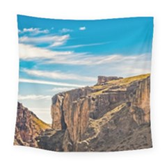 Rocky Mountains Patagonia Landscape   Santa Cruz   Argentina Square Tapestry (large)