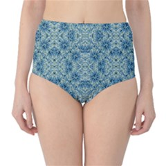 Modern Baroque Pattern High-Waist Bikini Bottoms