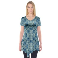 Modern Baroque Pattern Short Sleeve Tunic