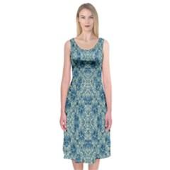 Modern Baroque Pattern Midi Sleeveless Dress