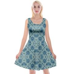 Modern Baroque Pattern Reversible Velvet Sleeveless Dress