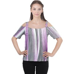 Abstraction Women s Cutout Shoulder Tee