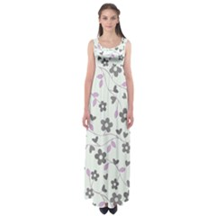 Floral pattern Empire Waist Maxi Dress