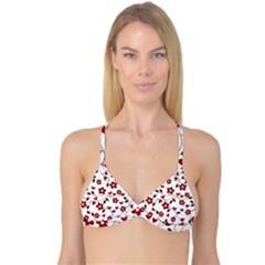 Floral Pattern Reversible Tri Bikini Top