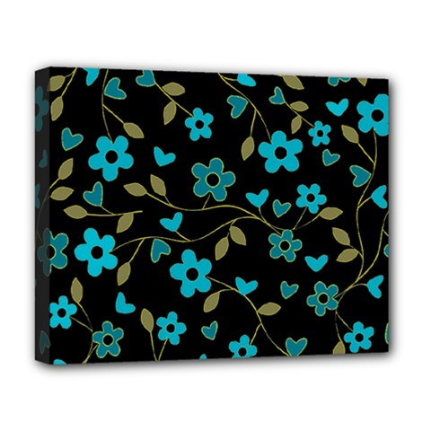 Floral pattern Deluxe Canvas 20  x 16