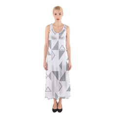 Pattern Sleeveless Maxi Dress