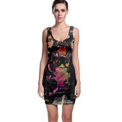 Bulldog Sleeveless Bodycon Dress