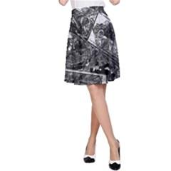 Vintage newspaper  A-Line Skirt