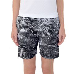 Vintage Newspaper  Women s Basketball Shorts