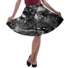 Vintage newspaper  A-line Skater Skirt