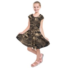 Vintage newspaper  Kids  Short Sleeve Dress