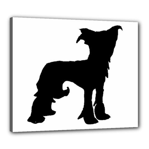 Chinese Crested Silo Black Canvas 24  x 20