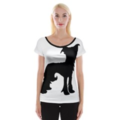 Chinese Crested Silo Black Women s Cap Sleeve Top