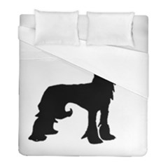 Chinese Crested Silo Black Duvet Cover (Full/ Double Size)