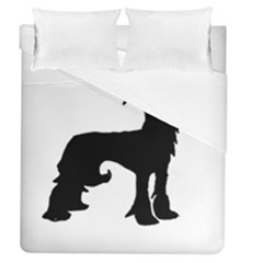 Chinese Crested Silo Black Duvet Cover (Queen Size)