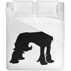 Chinese Crested Silo Black Duvet Cover (California King Size)