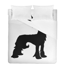Chinese Crested Silo Black Duvet Cover Double Side (Full/ Double Size)