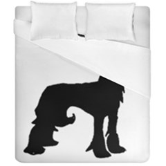 Chinese Crested Silo Black Duvet Cover Double Side (California King Size)