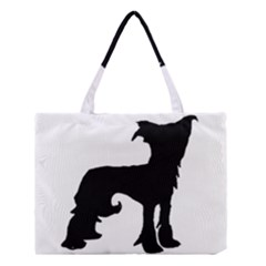 Chinese Crested Silo Black Medium Tote Bag