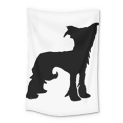 Chinese Crested Silo Black Small Tapestry