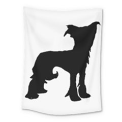 Chinese Crested Silo Black Medium Tapestry