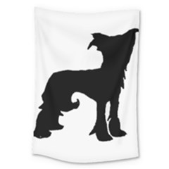 Chinese Crested Silo Black Large Tapestry