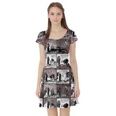 Comic book  Short Sleeve Skater Dress