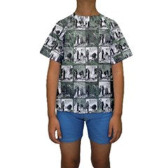 Comic book  Kids  Short Sleeve Swimwear