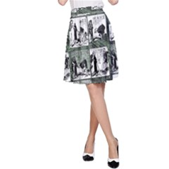 Comic book  A-Line Skirt